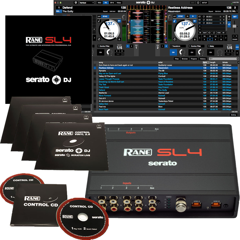 rane serato scratch live sl4 sl 4 digital vinyl system dvs 687499176470 ebay. Black Bedroom Furniture Sets. Home Design Ideas