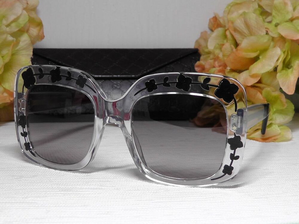 c5871077d0 Details about Gucci GG3863S Oversized Square Cryatal Frame 900 EU Sunglasses  54 22 145  Italy
