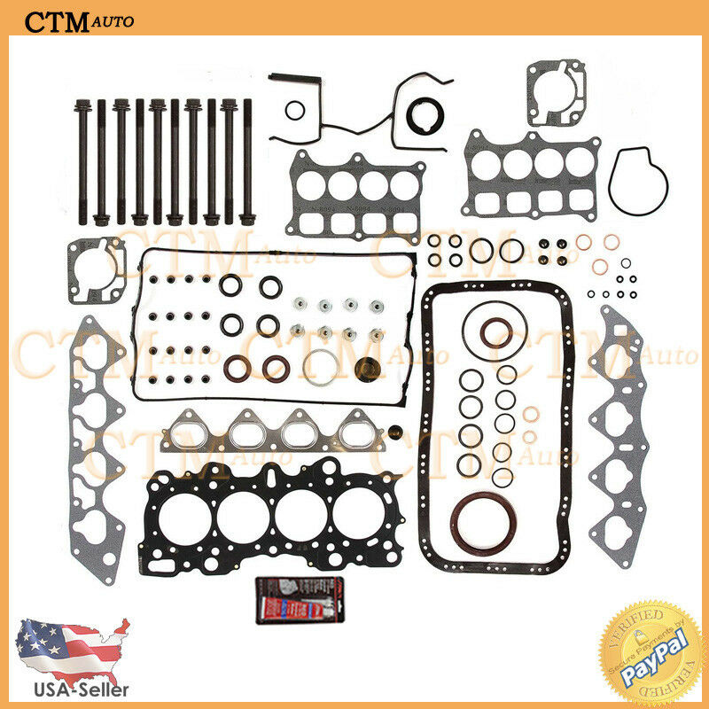 MLS Full Head Gasket Set Bolts Repair For 94-01 Acura