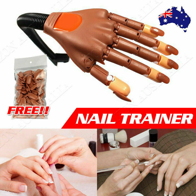 Flexible Nail Trainer Practice Training Model Trainer with100 Refit ...