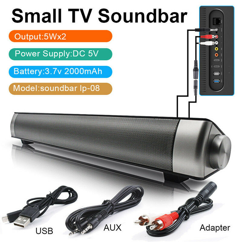 Wireless Tv Sound Bar Bluetooth Speaker Stereo Home Theater Subwoofer Aux Usb X1 Ebay