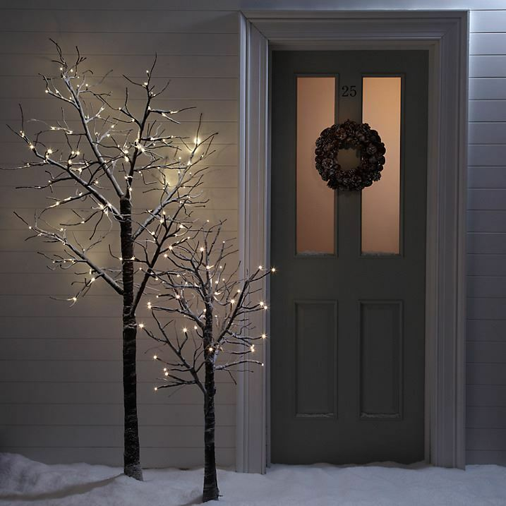 Outdoor String Lights John Lewis: 7ft Snowy Effect Warm White Twig Tree Pre-lit 120 LED XMAS