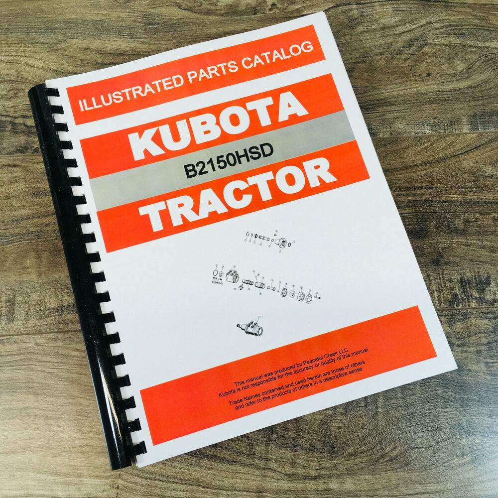 KUBOTA B2150HSD TRACTOR PARTS ASSEMBLY MANUAL CATALOG EXPLODED VIEWS  NUMBERS | eBay