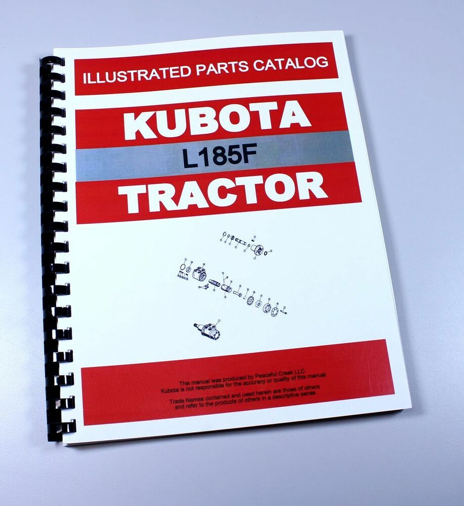 KUBOTA L185 TRACTOR PARTS ASSEMBLY MANUAL CATALOG EXPLODED VIEWS NUMBERS  L185F | eBay