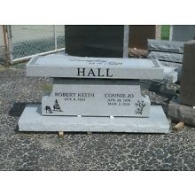 Cremation bench cemetery interment gray with base and custom engraving
