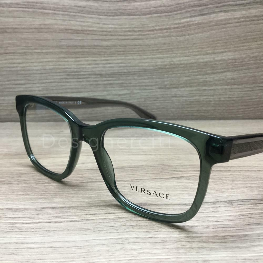 efb6367ee564 Details about Versace VE 3239 Eyeglasses Transparent Green Grey 5211  Authentic 54mm
