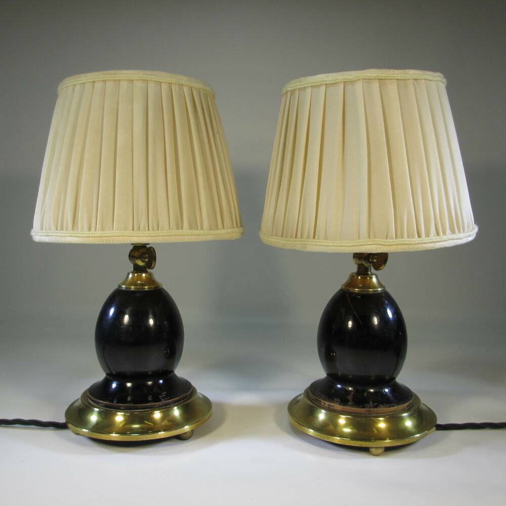 art deco tischlampen paar 1930 1940 antik tischlampe. Black Bedroom Furniture Sets. Home Design Ideas