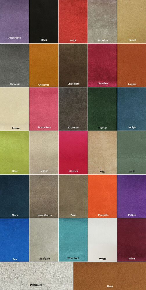 Microfiber Suede 8 Oz Upholstery Fabric In 30 Colors 60
