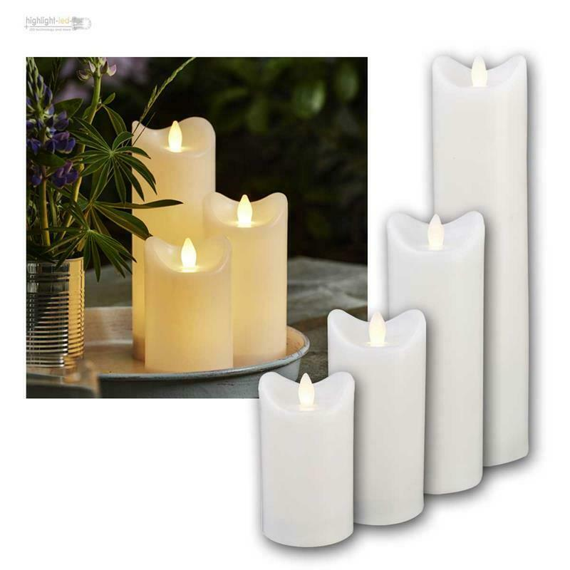 led kerze f r au en mit timer flackernde flammenlose kerzen outdoor candle neu ebay. Black Bedroom Furniture Sets. Home Design Ideas
