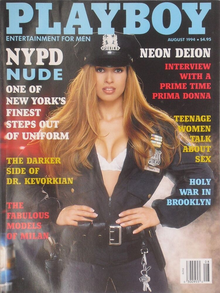 f1775e58cf4 Details about NYPD NUDE August 1994 PLAYBOY Magazine MODELS OF MILAN    CENTERFOLD  MARIA CHECA