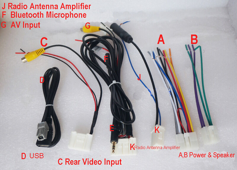 2001 dodge ram radio wiring harness rav4 radio wiring harness set 6 wiring harness radio cd usb aux av bluetooth for ...