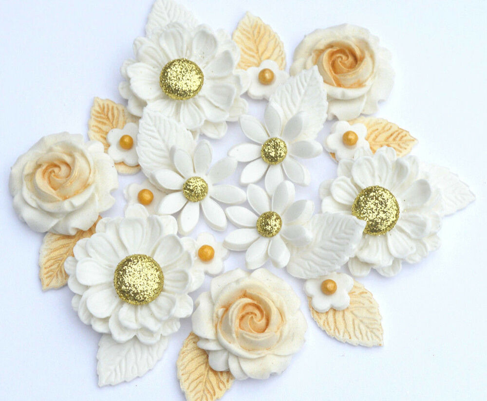 Edible Gold Flowers Edible White And Golden Wedding Flower Bouquet