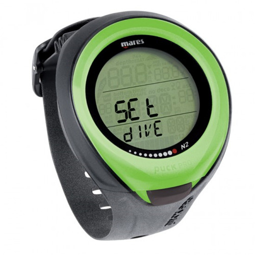Mares dive computer for scuba wrist watch nitrox diving puck pro lime 4uk ebay - Nitrox dive computer ...