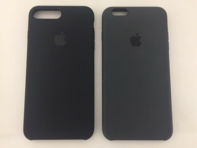 46f8a075c Details about Apple iPhone 6 6s PLUS   7 Plus Silicone Case black charcoal  Gray New Sealed fro