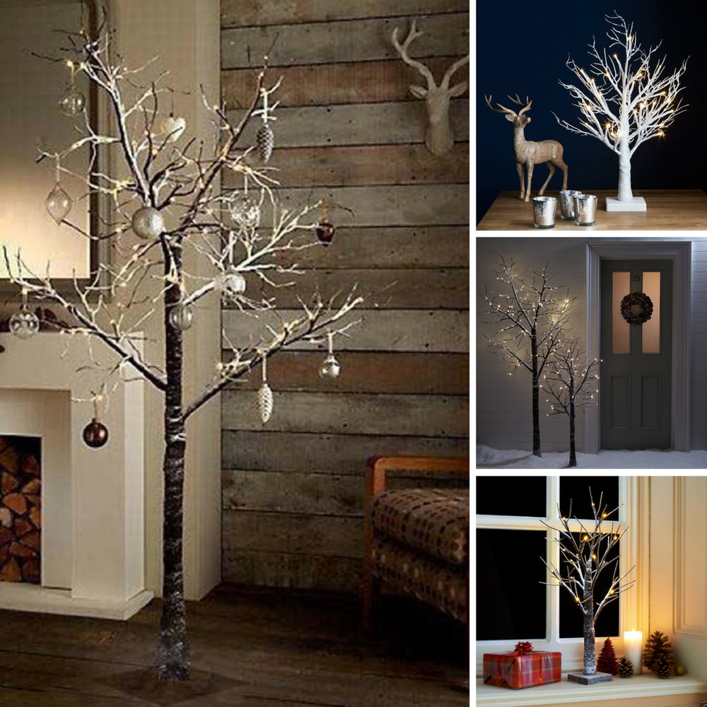 Pre Lit Christmas Twig Tree: Pre-lit Christmas / Easter Twig Tree Led Rustic Xmas Snowy