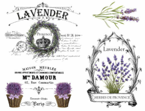 Vintage French Provence Lavender Furniture Transfers