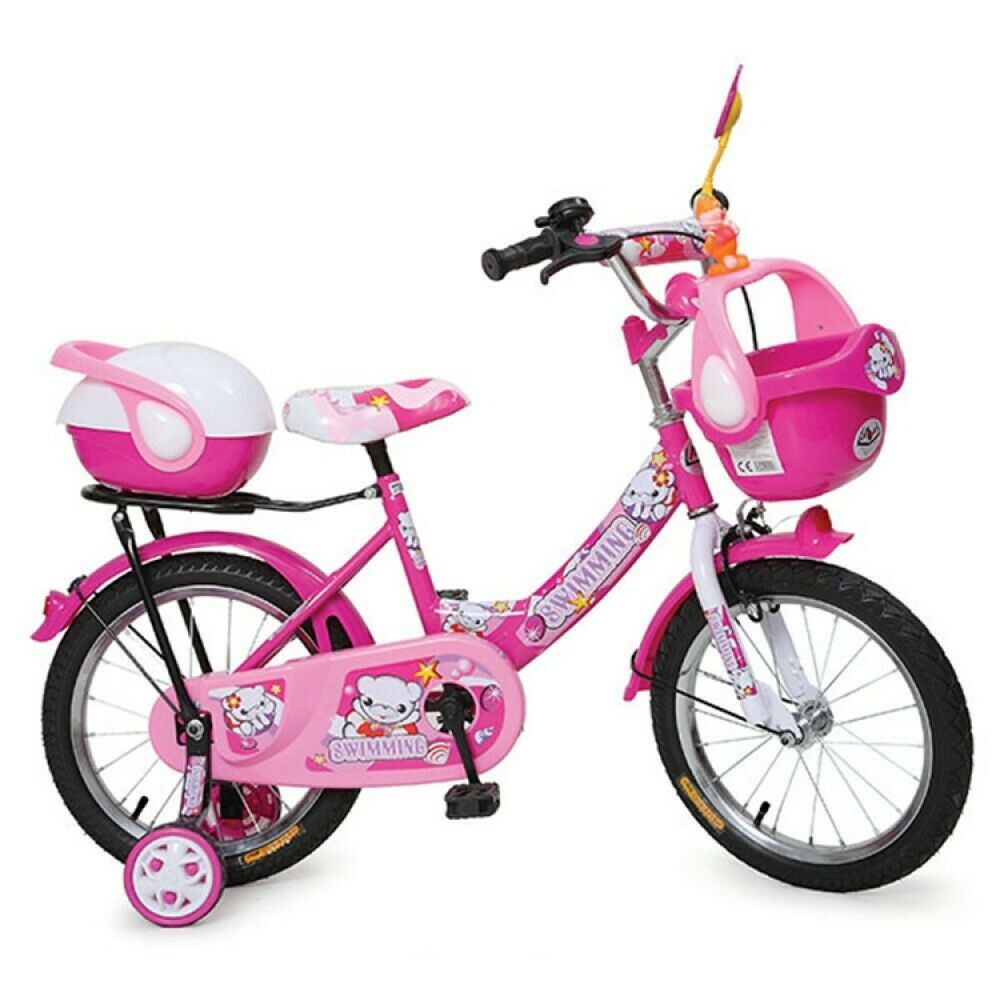 kinderfahrrad 12 zoll 1282 rosa st tzr der korb ebay. Black Bedroom Furniture Sets. Home Design Ideas