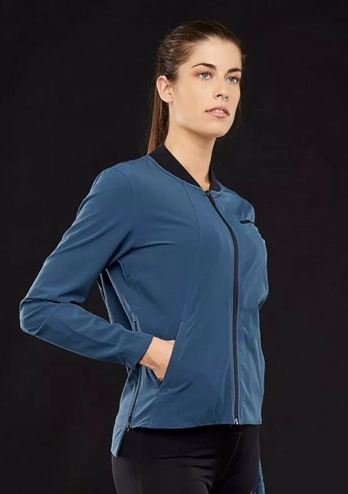 1f6ad27b55ec Details about Nike Hyper Elite Showtime Basketball Jacket Women s Squadron  Blue Black Medium