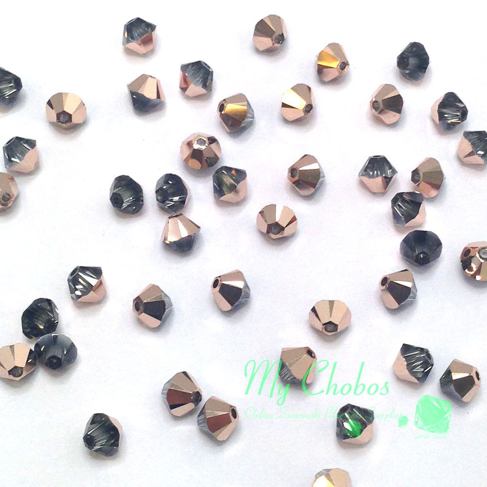 42e48ad594c8e0 Details about Crystal Rose Gold (001 ROGL) Swarovski Elements 5328 XILION  4mm Bicone Beads