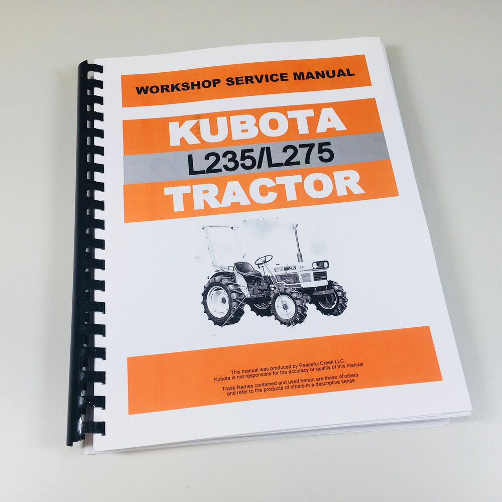 KUBOTA L235 L275 TRACTOR SERVICE REPAIR MANUAL TECHNICAL SHOP BOOK OVERHAUL  | eBay