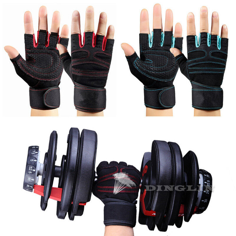Weight Lifting Gym Gloves Training Fitness Wrist Wrap: 1Pair For Weight Lifting Gym Gloves Workout Wrist Wrap