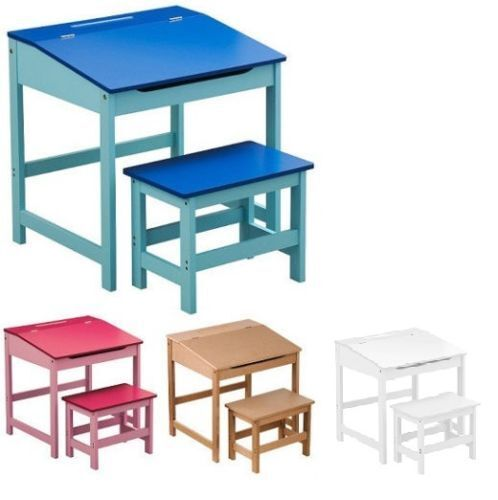 c9c9482b398 Details about KIDS CHILDRENS WOODEN DESK AND CHAIR SCHOOL STUDY RETRO  LIFTING TOP CHILD SET
