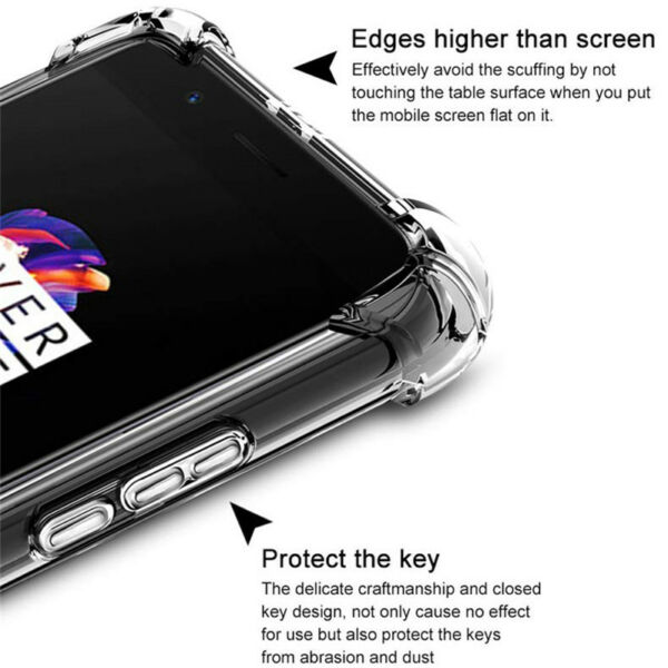 For OnePlus 7T 7 Pro 6 6T 5 5T 3 Shockproof 360° Clear Silicone TPU Case Cover