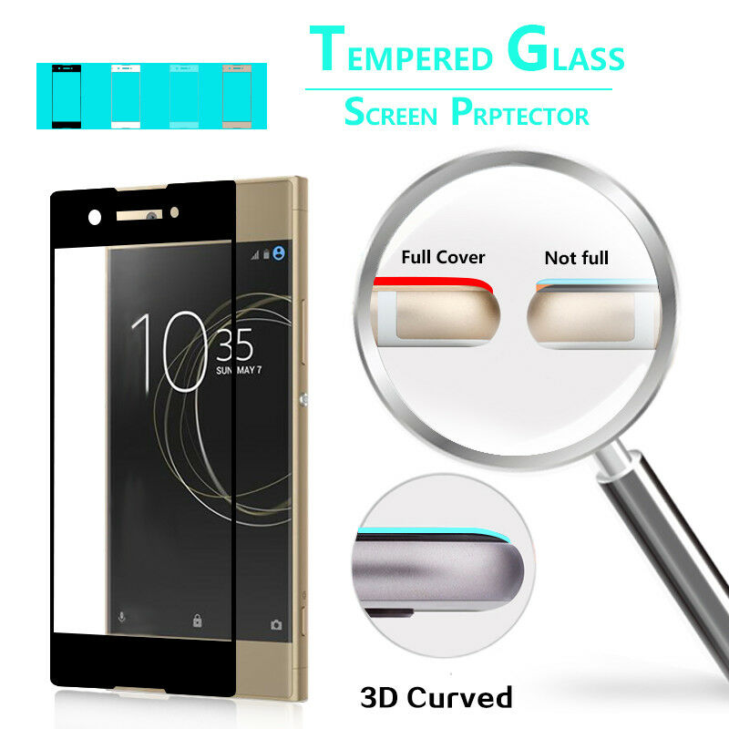 3d Curved Screen Protector Tempered Glass Film For Sony Xperia Xa1
