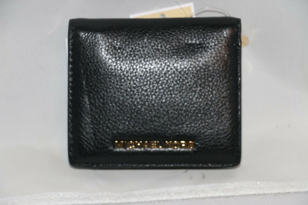d1a3f1321a29 Details about Michael Kors Bedford Carryall Card Case / Wallet - Black