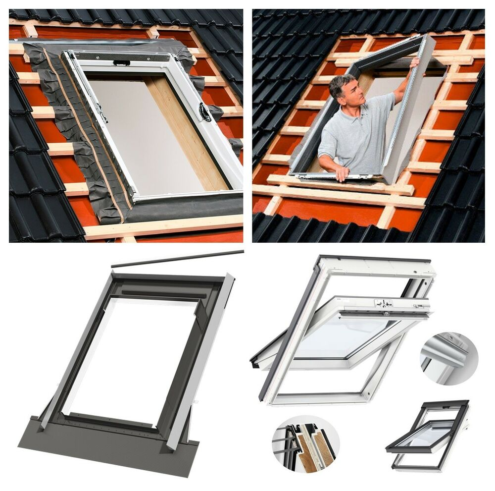 velux dachfenster kunststoff 3 fach verglasung eindeckra edw 2000 edz eds bdx ebay. Black Bedroom Furniture Sets. Home Design Ideas