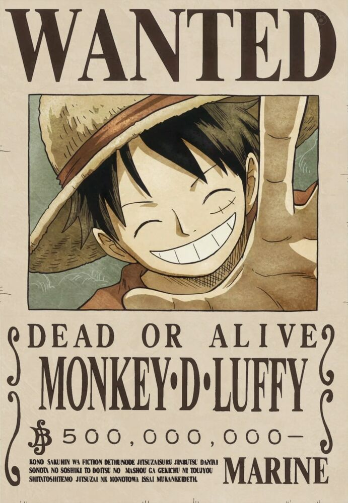 Poster a3 one piece mokey d luffy recompensa cartel se - Affiche wanted one piece ...