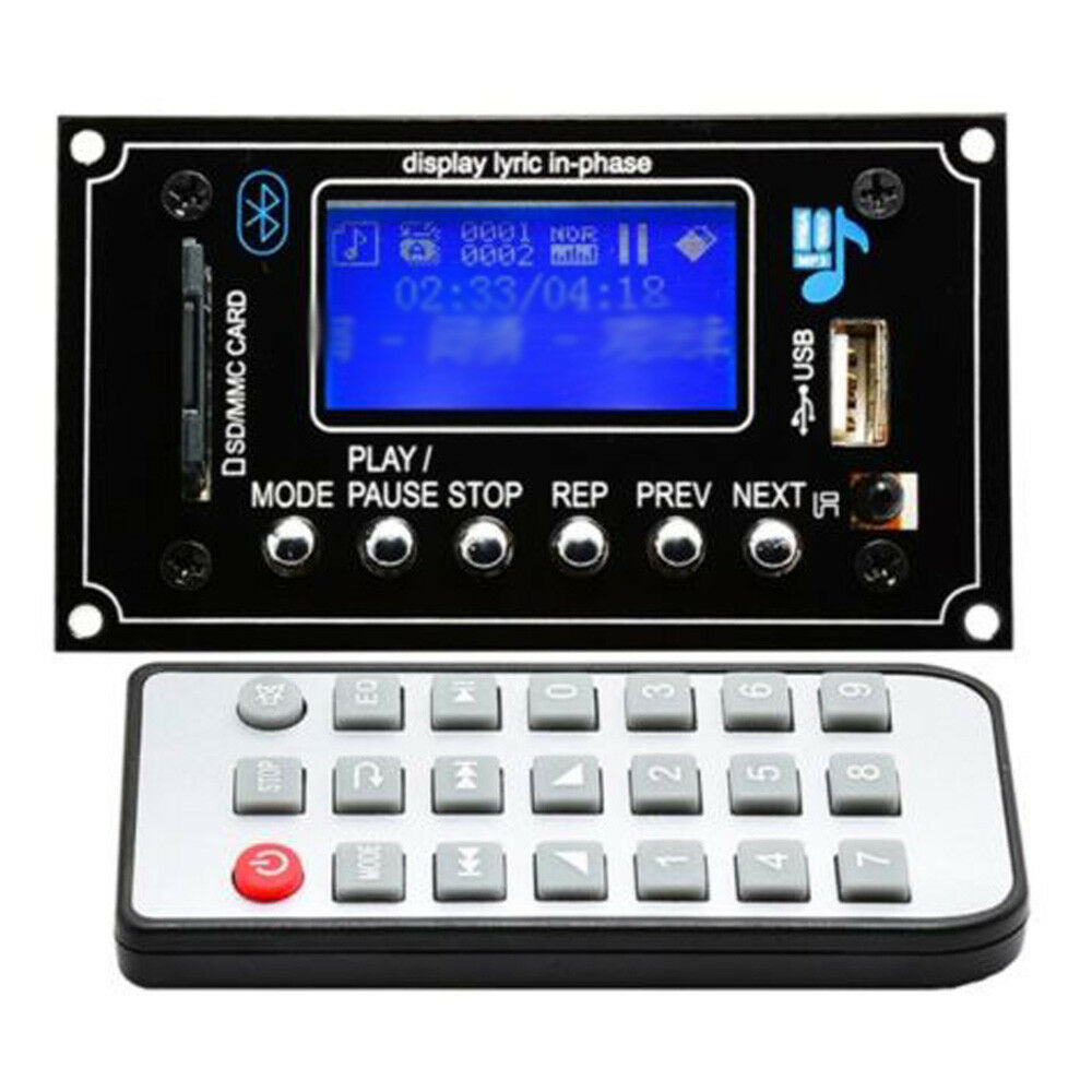 dc 12v bluetooth mp3 decoder board modul usb aux fm. Black Bedroom Furniture Sets. Home Design Ideas