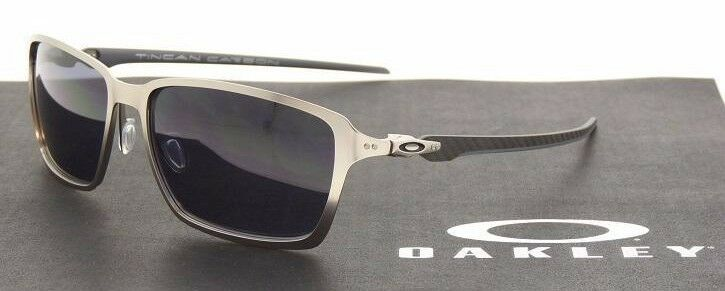 da047b8e8b9 RARE NEW Authentic OAKLEY TINCAN CARBON Satin Chrome Mens Sunglasses OO 6017  01 888392002754