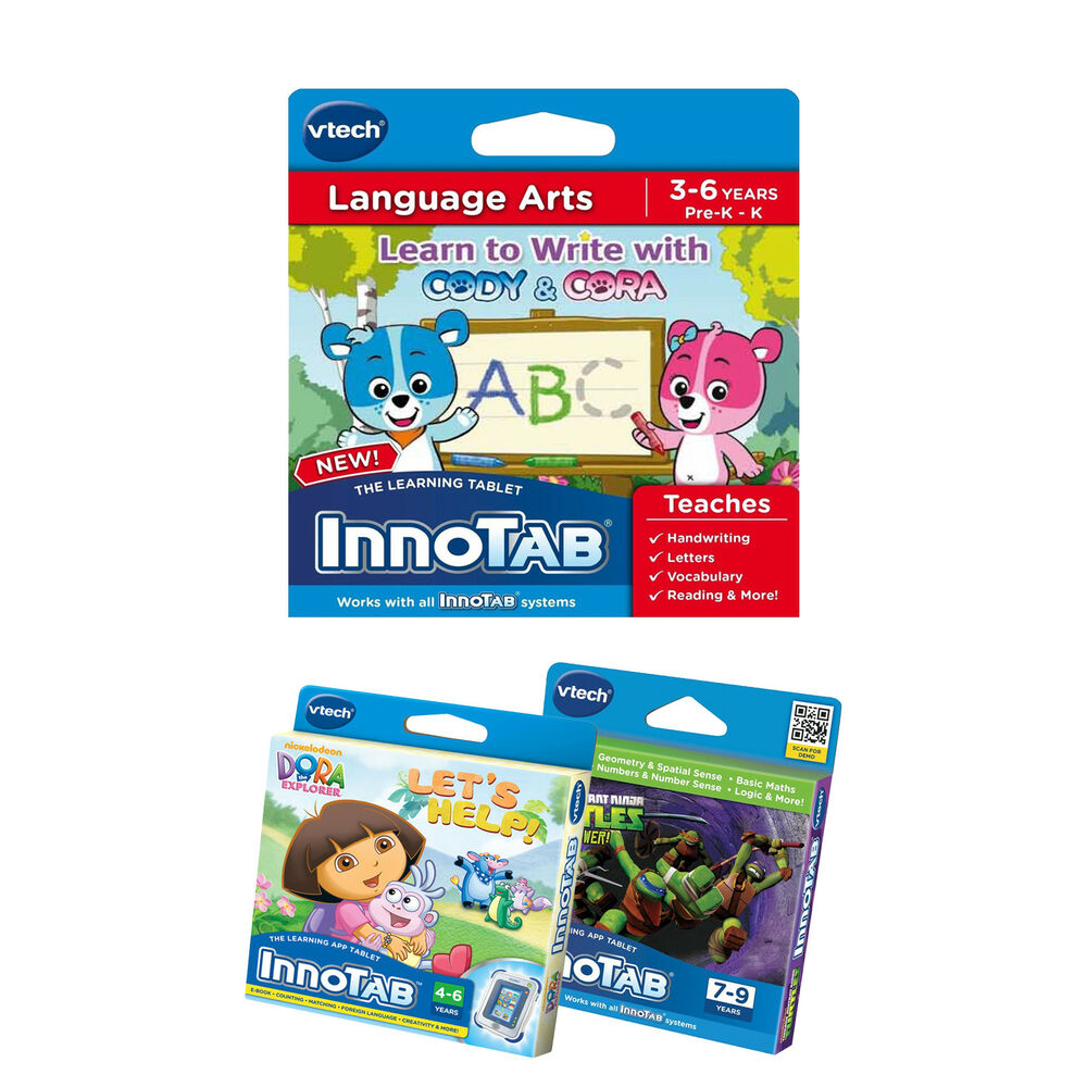 vtech InnoTAB Games: Language Arts, TMNT Maths & Dora Learning ...