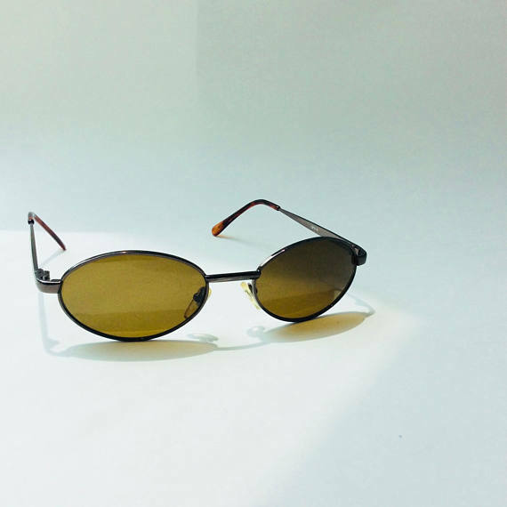 Vintage Wire Frame OPV-14 Round Eyeglasses 1970\'s 70\'s Tinted ...