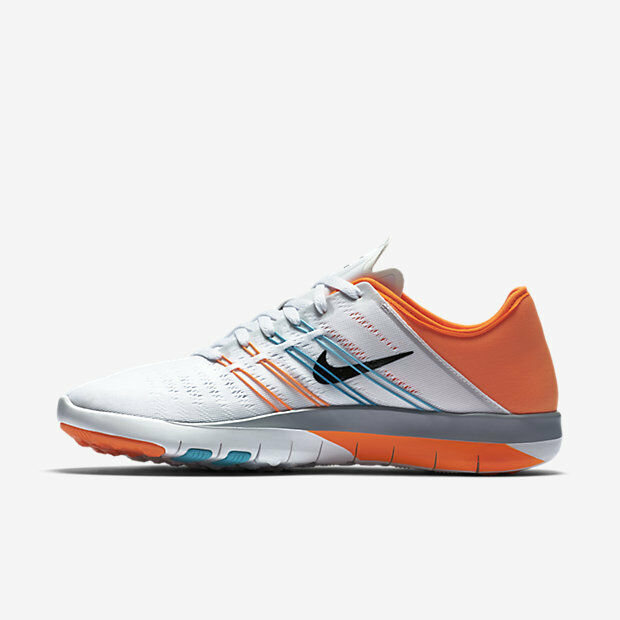 info for 64141 6c25f Details about WOMEN S NIKE FREE TR 6 SHOES SIZE 11.5 white black blue orange  833413 101