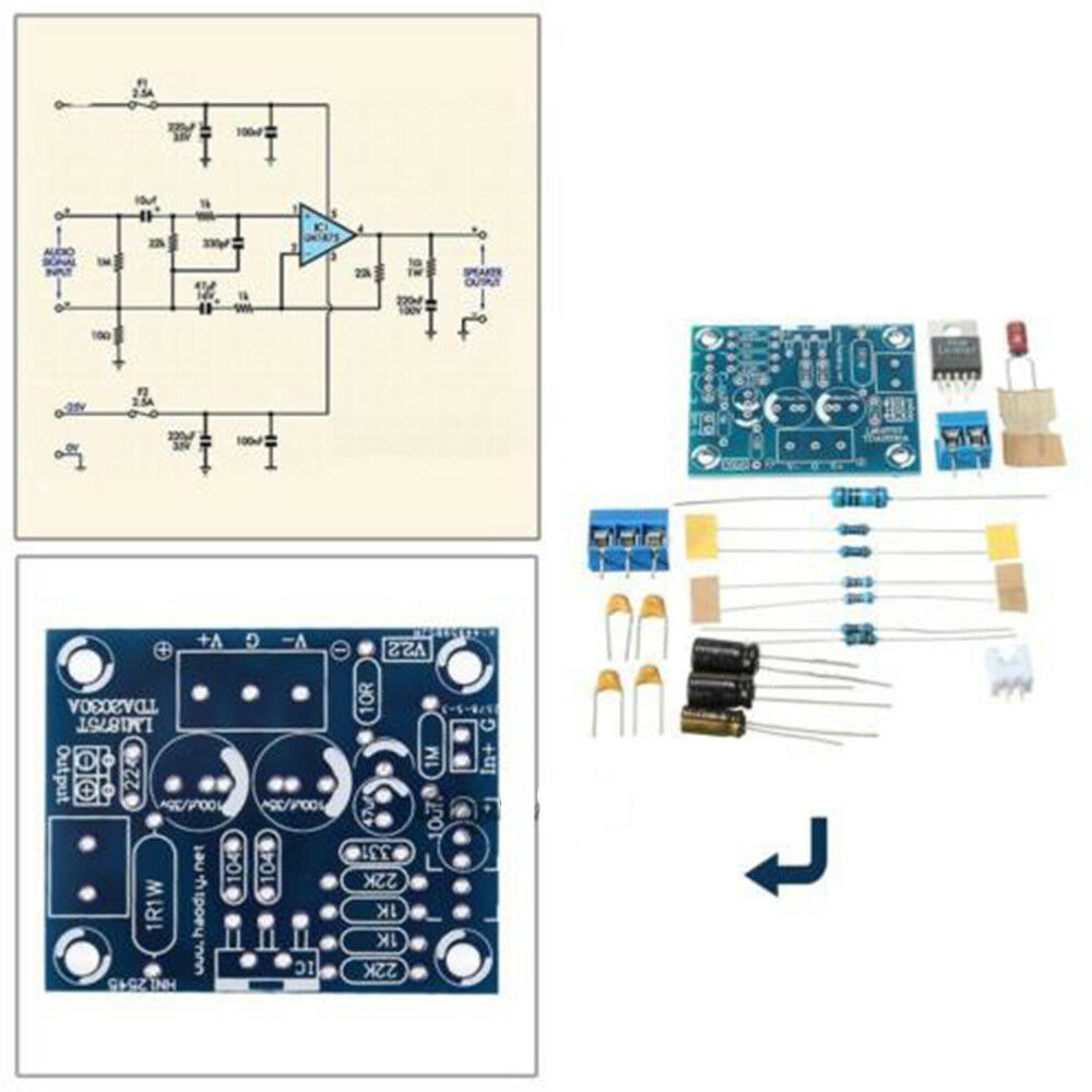 20w Lm1875t Mono Channel Stereo Audio Hifi Amplifier Board Module Using Lm1875 Electronic Circuits And Diagram Diy Kit New 941035268907 Ebay