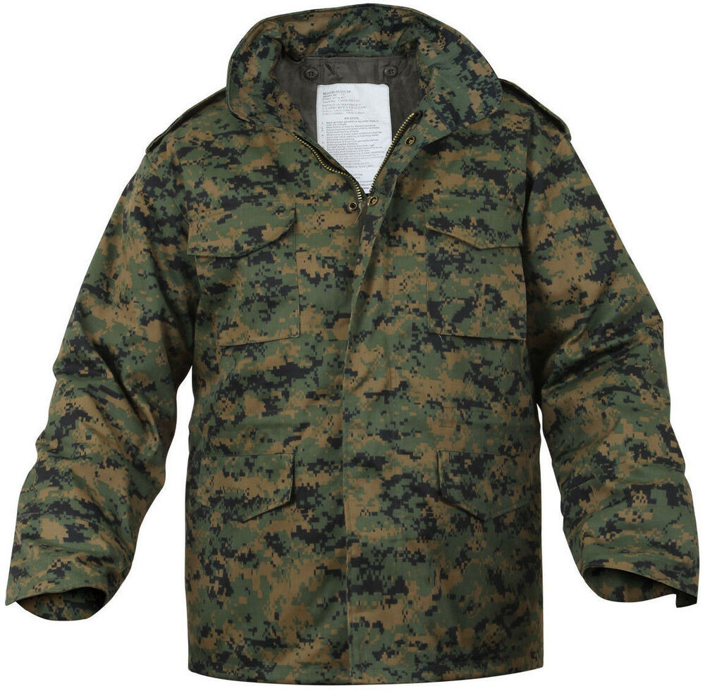 Woodland Digital Camouflage MARPAT M-65 Field Coat Army M65 Jacket w  Liner   14bc11efa00
