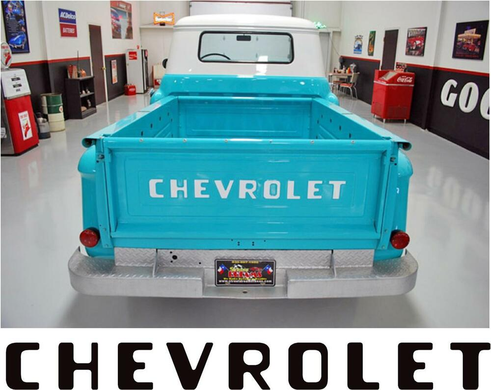 1955 87 Stepside Chevy Chevrolet Pickup Truck Tailgate Letters Old Tailgates Decals Stickers Ebay