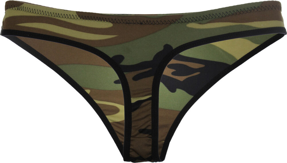 Womens Camo Sexy Panties Woodland Camouflage Underwear Army Military Thong   38f87d2640f