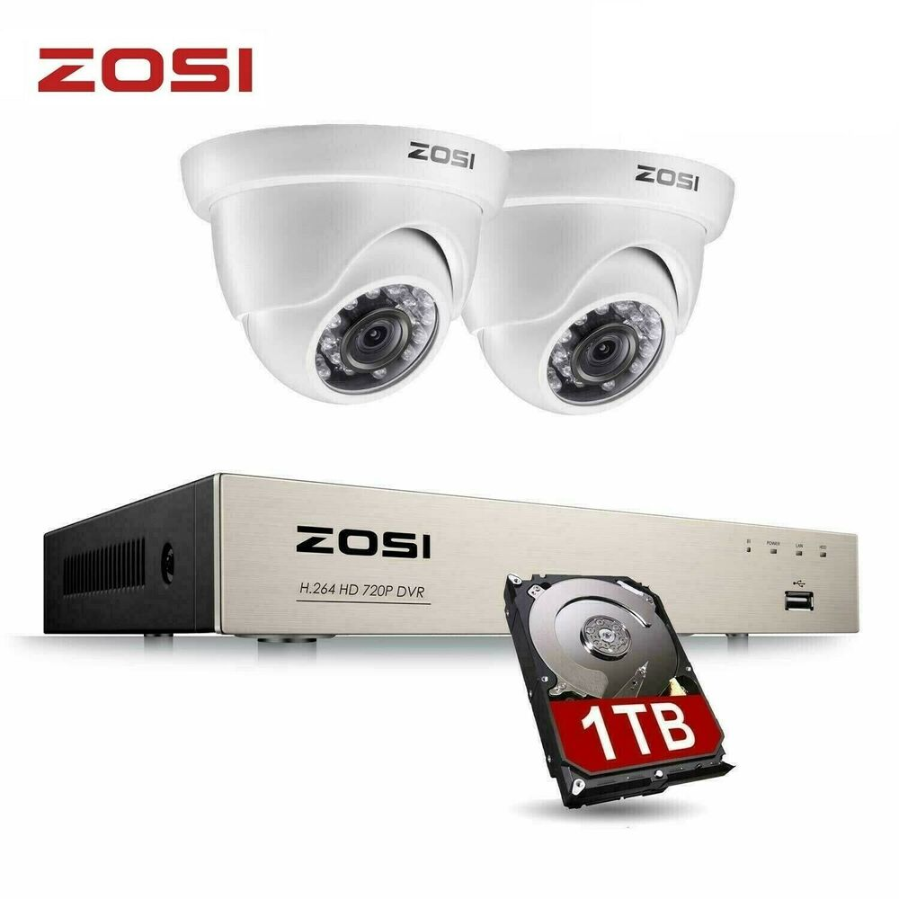 ZOSI 8CH 1080N DVR 720P CCTV Home Security Camera System ...