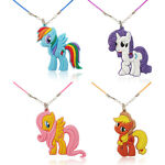 1pc My Little Pony PVC Choker Necklace Pendant Rope Chain Fashion Charms Jewelry