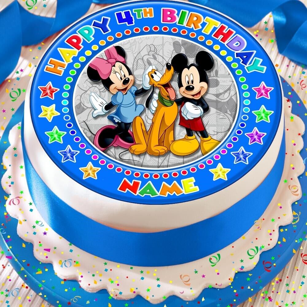 MINNIE MOUSE AGE 5 5TH BIRTHDAY PRECUT EDIBLE 75 INCH CAKE TOPPER DECORATION