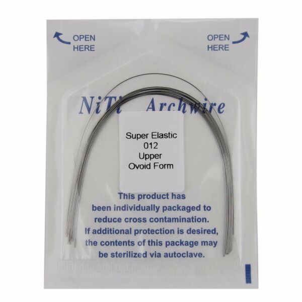 10 pcs Dental Orthodontic Super Elastic Niti Wires Ovoid Form Arch Wire Round