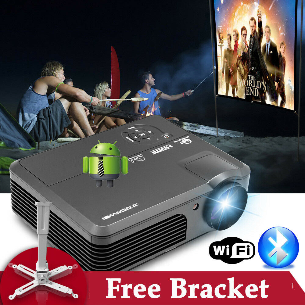 Ksd 288 Hd Dvd Projector Best New Hd Home Theater: 7000:1 Android Wifi Smart Bluetooth Projector Home Theater