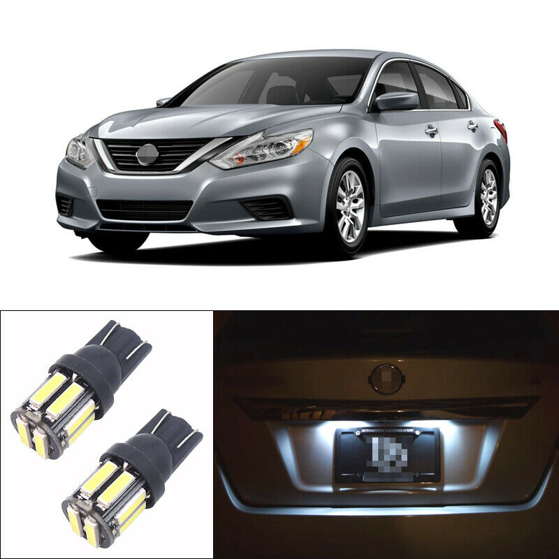 Details About One Pair White Led Bulbs For 1998 2017 Nissan Altima License Plate Lights