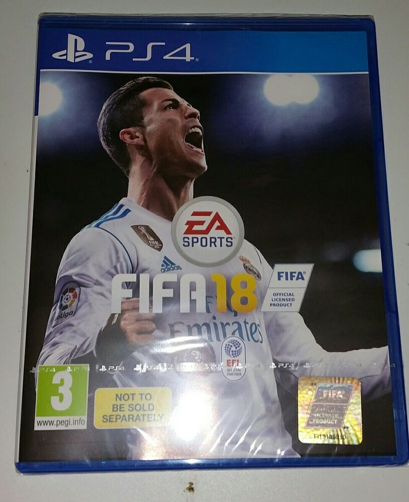 fifa 18 sony playstation 4 ps4 game new and sealed uk pal. Black Bedroom Furniture Sets. Home Design Ideas