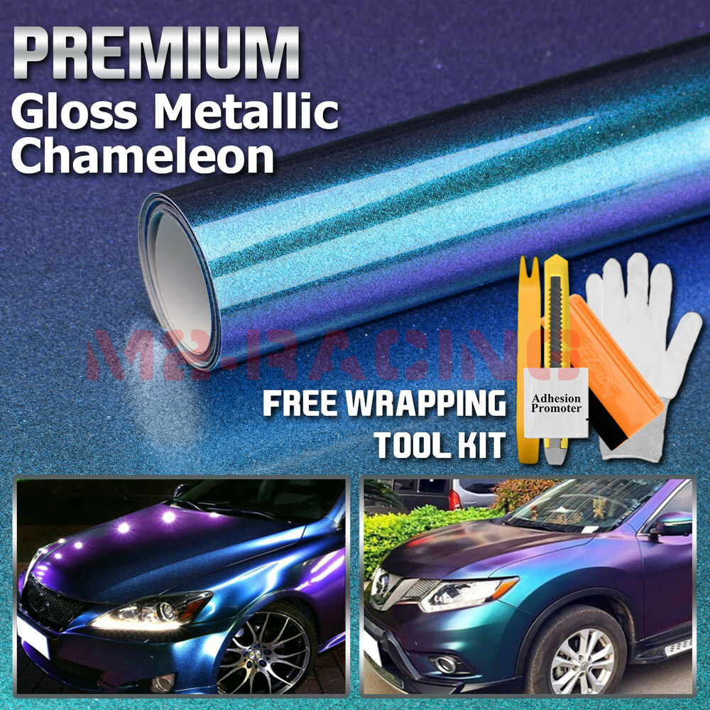 Details about premium high gloss metallic chameleon purple teal sticker decal car vinyl wrap
