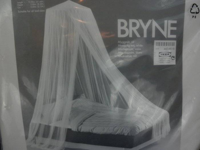 New Ikea Bryne White Mosquito Net Princess Bed Fits All