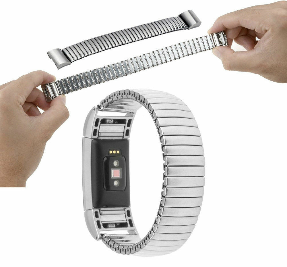 bracelet strap elastic band for fitbit charge 2 stainless steel watchband ebay